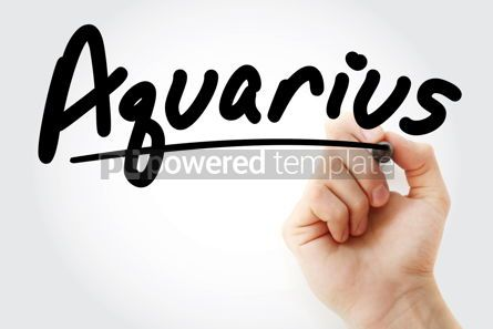 Business: Hand writing Aquarius with marker #08436