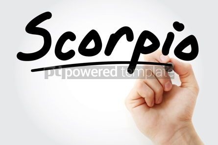 Business: Hand writing Scorpio with marker #08437