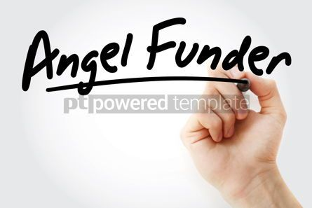 Business: Hand writing Angel funder with marker #08439