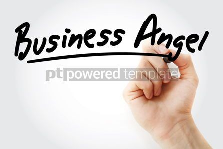 Business: Hand writing Business angel with marker #08440