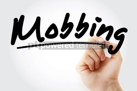 Business: Hand writing Mobbing with marker #08444