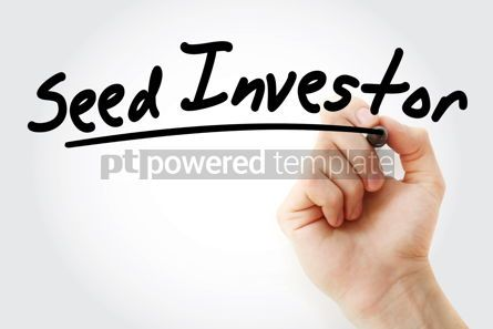 Business: Hand writing Seed investor with marker #08446