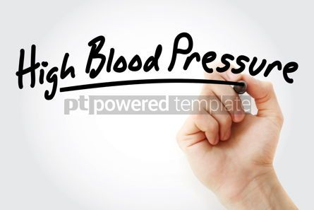 Health: Hand writing High blood pressure with marker #08447