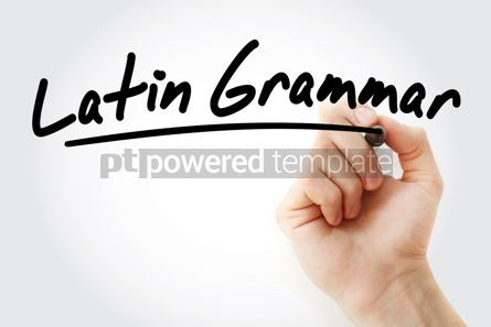 Education: Hand writing Latin grammar with marker #08450