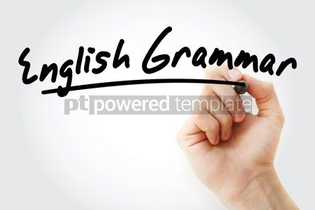 Education: Hand writing English grammar with marker #08451