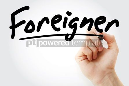 Business: Hand writing Foreigner with marker #08458