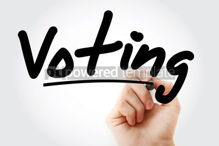 Education: Hand writing Voting with marker #08467
