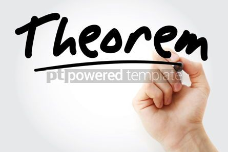 Education: Hand writing Theorem with marker #08468