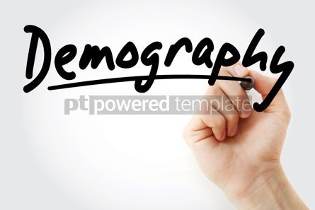 Business: Hand writing Demography with marker #08472