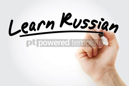 Business: Hand writing Learn Russian with marker #08474