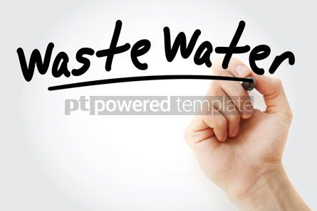 Health: Hand writing Waste water with marker #08477