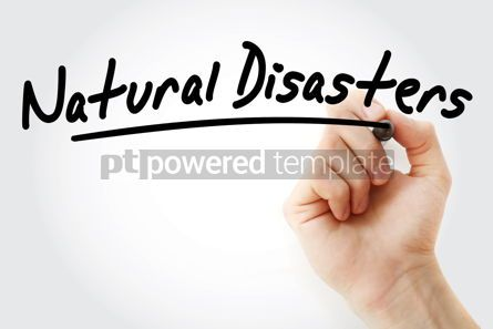 Business: Hand writing Natural disasters with marker #08480