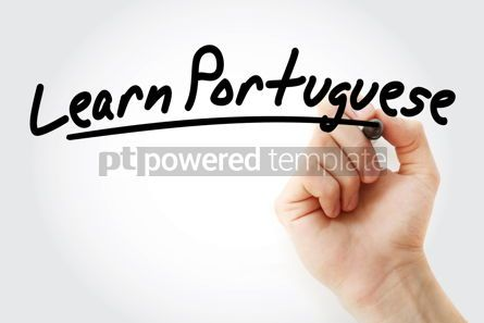 Business: Hand writing Learn Portuguese with marker #08484
