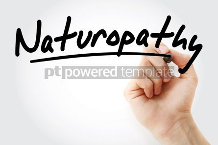 Business: Hand writing Naturopathy with marker #08489