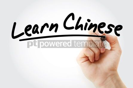 Business: Hand writing Learn Chinese with marker #08492