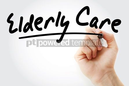 Business: Hand writing Elderly care with marker #08493
