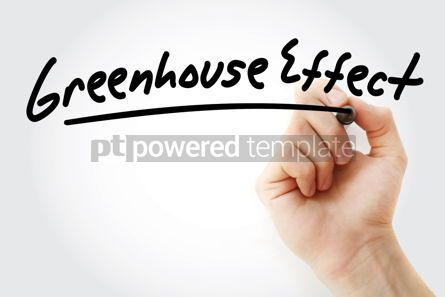 Business: Hand writing Greenhouse effect with marker #08494