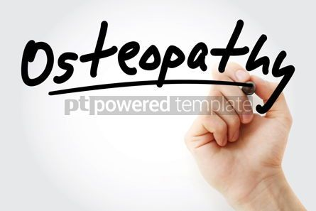 Business: Hand writing Osteopathy with marker #08506