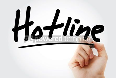 Business: Hand writing Hotline with marker #08509