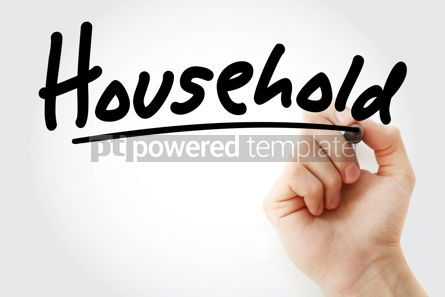 Business: Hand writing Household with marker #08515