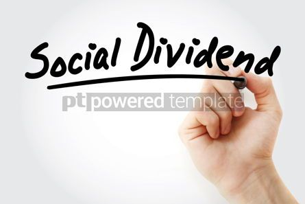 Business: Hand writing Social dividend with marker #08517