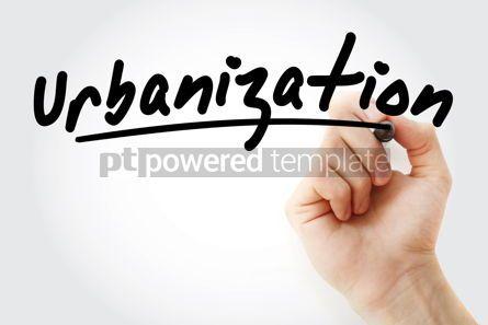 Business: Hand writing Urbanization with marker #08520
