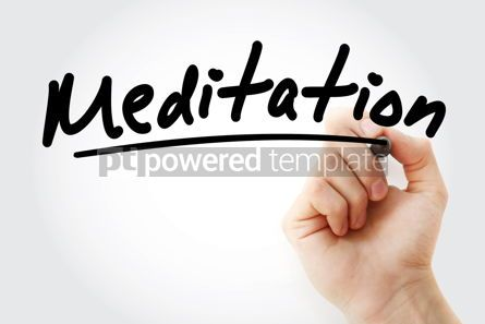 Business: Hand writing Meditation with marker #08532