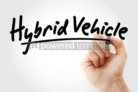 Business: Hand writing Hybrid vehicle with marker #08534