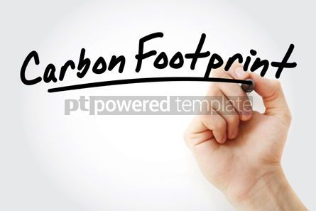 Business: Hand writing Carbon footprint with marker #08536