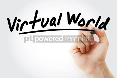 Technology: Hand writing Virtual world with marker #08538