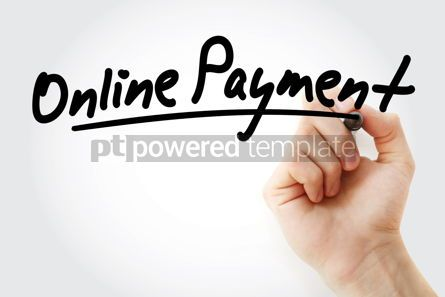 Technology: Hand writing Online payment with marker #08539