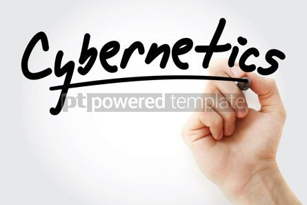 Technology: Hand writing Cybernetics with marker #08541