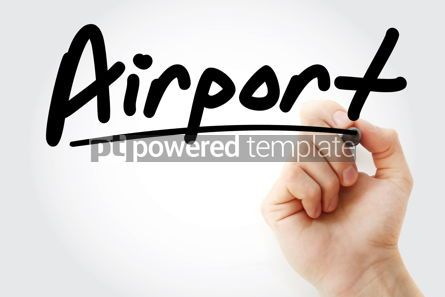 Business: Hand writing Airport with marker #08544