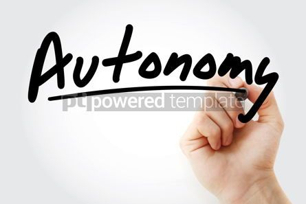 Business: Hand writing Autonomy with marker #08546