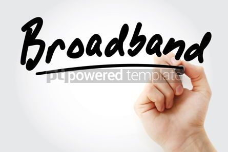 Business: Hand writing Broadband with marker #08548