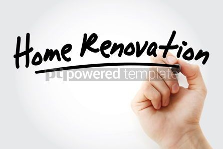 Business: Hand writing Home renovation with marker #08549