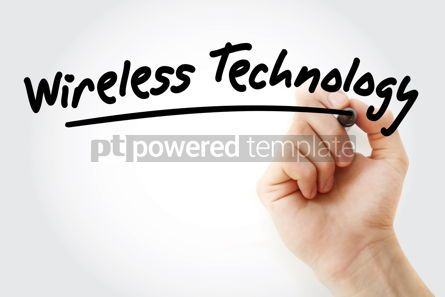 Business: Hand writing Wireless technology with marker #08551