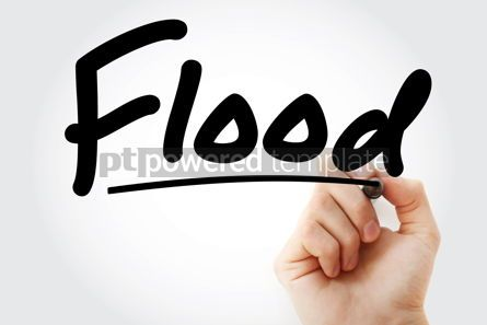 Business: Hand writing Flood with marker #08553