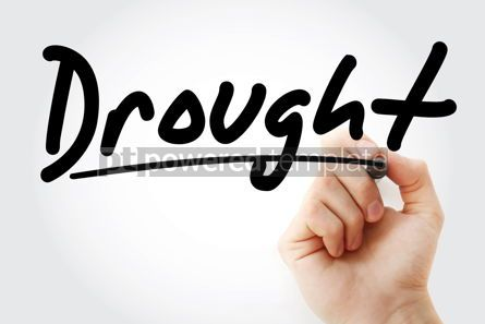 Business: Hand writing Drought with marker #08561