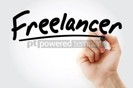 Business: Hand writing Freelancer with marker #08563