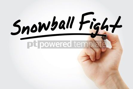 Business: Hand writing Snowball fight with marker #08567
