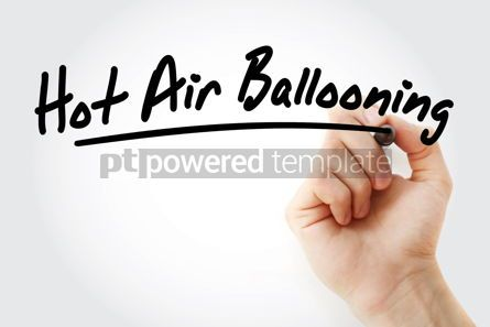 Business: Hand writing Hot air ballooning with marker #08568