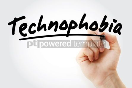 Business: Hand writing Technophobia with marker #08577