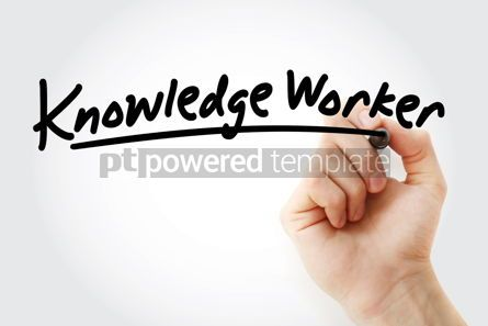 Business: Hand writing Knowledge worker with marker #08580