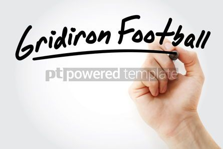 Business: Hand writing Gridiron football with marker #08583