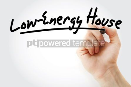 Business: Hand writing Low-energy house with marker #08588