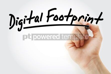 Business: Hand writing Digital footprint with marker #08589