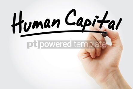 Business: Hand writing Human capital with marker #08590