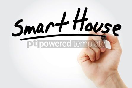 Business: Hand writing Smart house with marker #08591