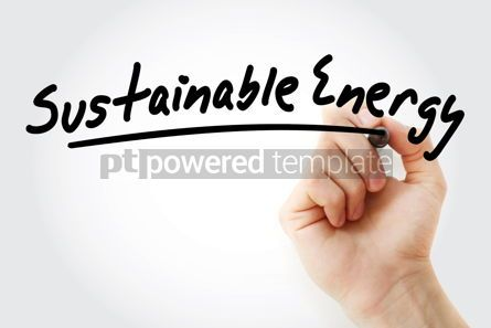 Business: Hand writing Sustainable energy with marker #08599